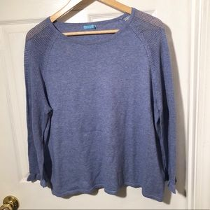 J. McLaughlin blue crew sweater